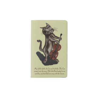 The Cat and the Fiddle Pocket Moleskine Notebook