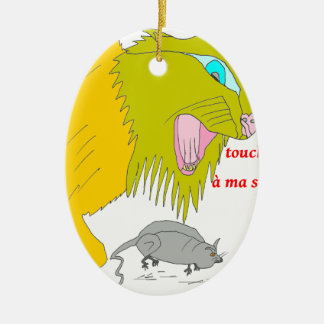 The CAT AND the MOUSE 1.PNG Ceramic Ornament