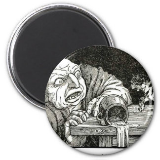 The Cat and the Ogre Artwork Refrigerator Magnet