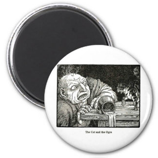 The Cat and the Ogre Artwork Magnet