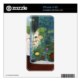 The Cat Aquatic Skin For The iPhone 4