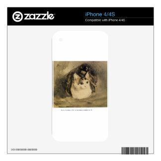 The Cat by Gwen John iPhone 4S Skins