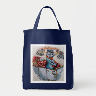 The Cat Chauffeur Tote Bags
