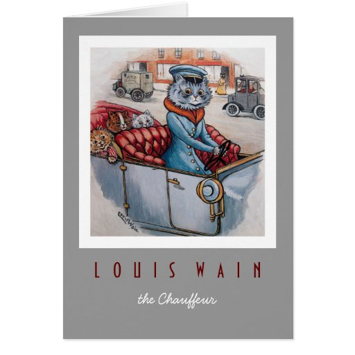 The Cat Chauffeur Greeting Cards