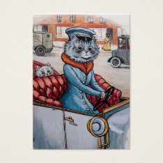 The Cat Chauffeur - Two Sided Business Card at Zazzle
