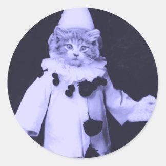 The Cat Clown Classic Round Sticker