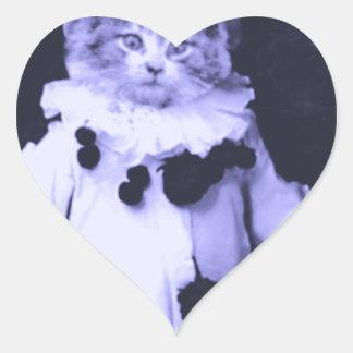 The Cat Clown Heart Sticker