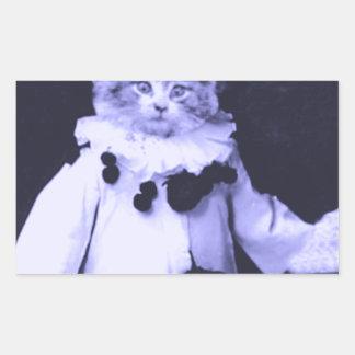 The Cat Clown Rectangular Sticker