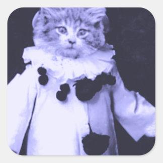 The Cat Clown Square Sticker