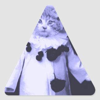 The Cat Clown Triangle Sticker