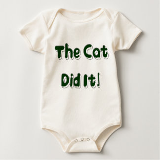 The Cat Did It! Baby Clothes Baby Bodysuit
