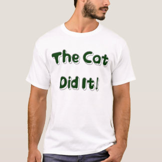 The Cat Did It! Mens Shirt