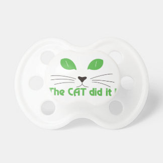 The Cat Did It! Pacifier