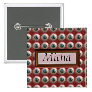 The Cat Eye Is Out Of The Bag Monogram 2 Inch Square Button