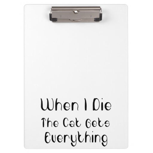The Cat Gets Everything Clipboards