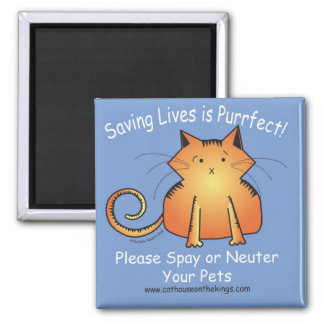 The Cat House on the Kings Spay and Neuter Magnet