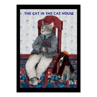THE CAT IN THE CAT HOUSE print