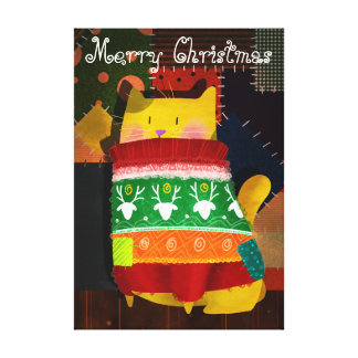 The Cat in the Ugly Sweater Canvas Print