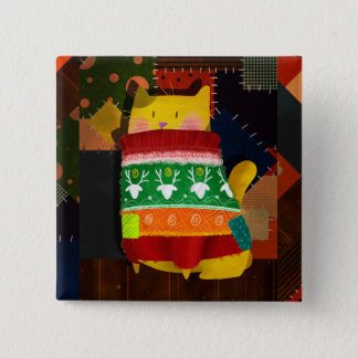 The Cat in the Ugly Sweater Pinback Button