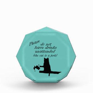 The Cat is a Jerk Acrylic Award