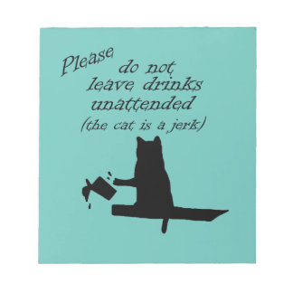 The Cat is a Jerk Notepad