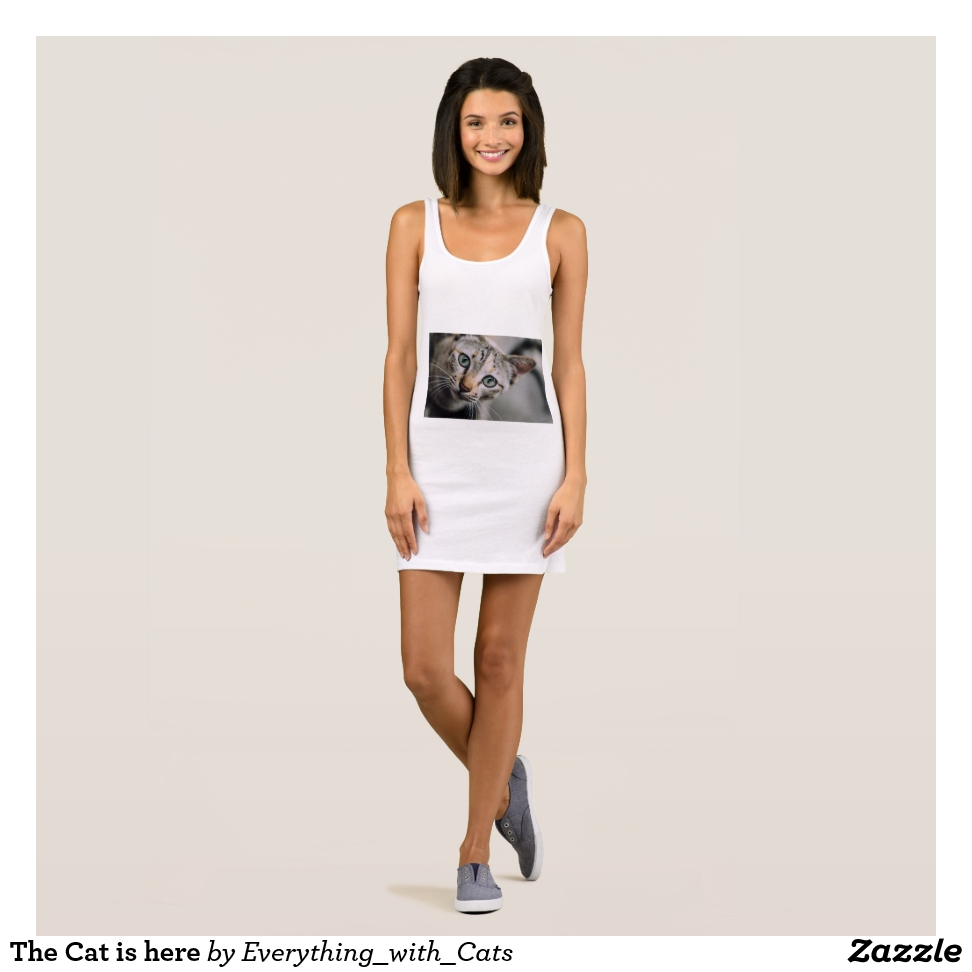 The Cat is here Sleeveless Dress - Curve-Hugging Women's Fashion