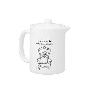 The Cat is the Queen Teapot
