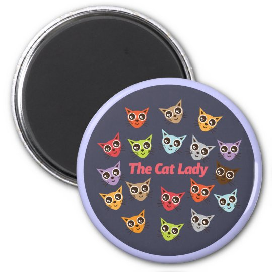 The Cat Lady Magnet