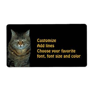 THE CAT . large label
