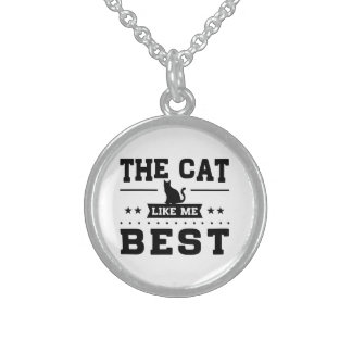 The Cat Like Me Best Sterling Silver Necklace