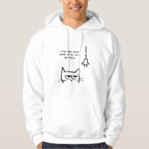 The Cat Loves Power Cords - Funny Cat Hoodie