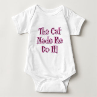 The Cat Made Me Do It! Baby Bodysuit