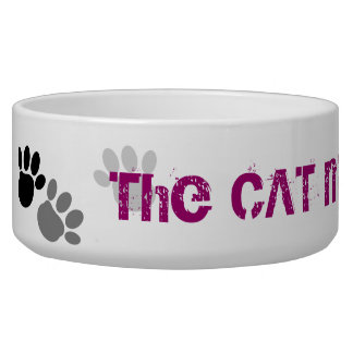 The CAT made me Do it !! Pet Bowl Dog Bowl