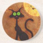 The cat of Halloween - Beverage Coaster