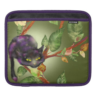 The cat on a branch iPad sleeve