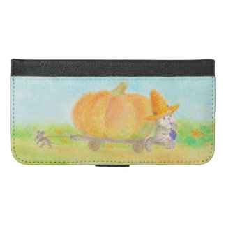 The cat pumpkin case which wears the straw of