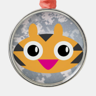 The cat returns to be cute! metal ornament