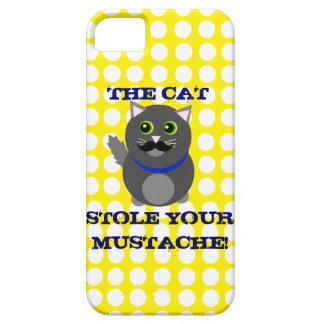 The cat stole your mustache! iPhone SE/5/5s case