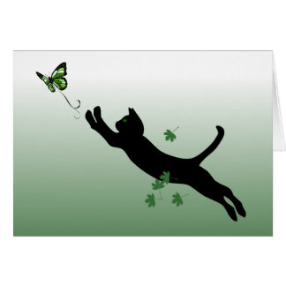 The Cat & The Butterfly Card