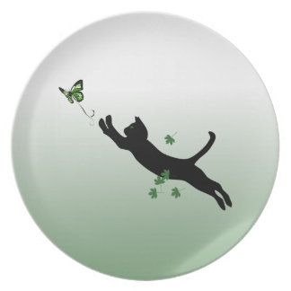 The Cat & The Butterfly Dinner Plate