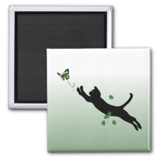 The Cat & The Butterfly Fridge Magnets