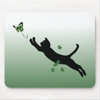 The Cat & The Butterfly Mouse Pad
