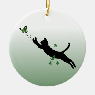 The Cat & The Butterfly Christmas Ornaments