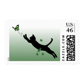 The Cat The Butterfly Postage Stamps