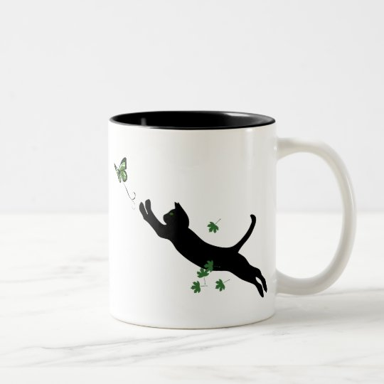 The Cat & The Butterfly Two-Tone Coffee Mug