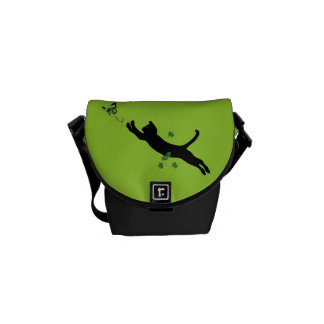 The Cat & The Butterfly Version 2 Courier Bag