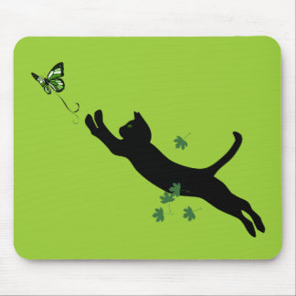 The Cat & The Butterfly Version 2 Mouse Pad