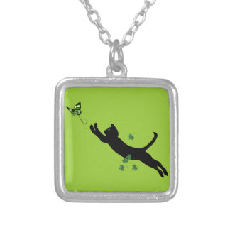 The Cat & The Butterfly Version 2 Necklace