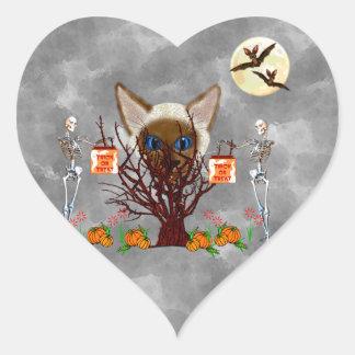 The Cat Tree Heart Sticker