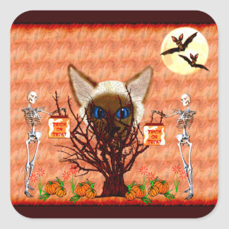 The Cat Tree Square Sticker